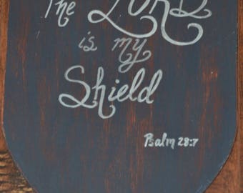 Shield Painted Scripture