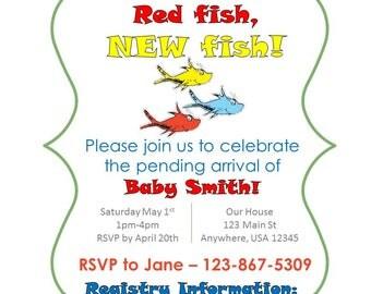 Custom Dr. Seuss Baby Shower Invitation Printable