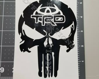 Punisher style TRD Devil horns decal