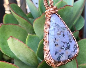 Lavender jadeite agate pendant