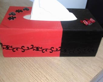 Tissue - romantic box - red & Black