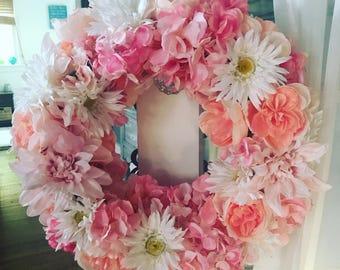 CUSTOM Pink Paisley Flower Halo