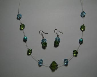 Turquoise and green set