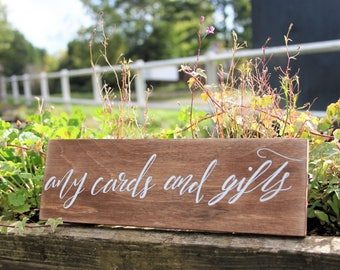 Wooden Wedding Sign / Cards & Gifts / Rustic Wedding Sign / Cards and Gifts