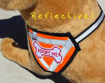 2-sided ADOPT ME Pet VEST with Dog-Bone Embroidered Patchwork
