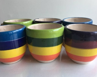 Small colorful cups