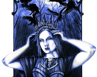 Crow Queen Print