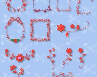 Wreath SVG, PNG, DXF, Eps Cutting Files, Flower svg, Flowers svg, Rose svg, Spring svg, Floral doodle svg, floral wreath svg, leaf wreath