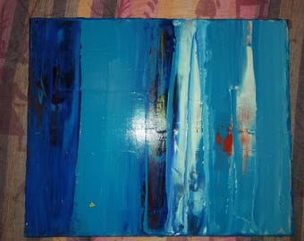 Melting ice - blue acrylic turquoise and gold
