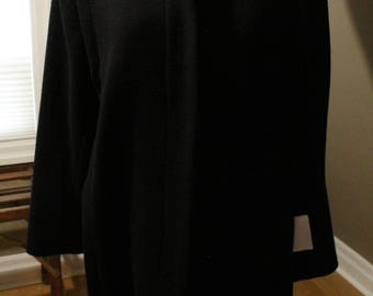 Black 1980's International Scene Women's Coat