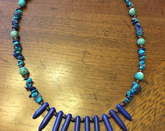 Turquoise with Lapis Necklace