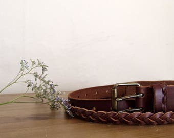 Leather belt from second hand condition