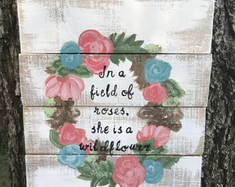 Wildflower Pallet Sign