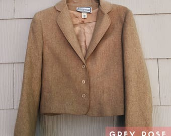 Women's Preppy Blazer / Tailor Made Brown Jacket