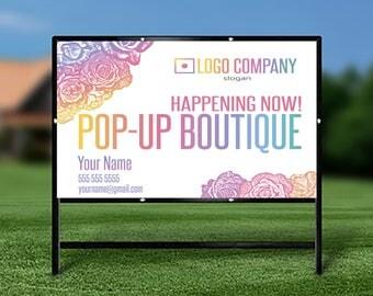 Yard Sign, Pop Up Boutique, Pop Up Boutique Banner, Custom Banner, Digital File, Home Office Approved Color&Fonts