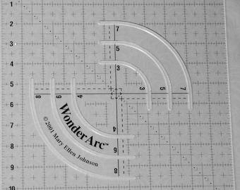 "quilting ruler WonderArc 11"" circular acrylic"