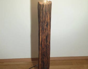 Floor lamp! Wood lamp! Upcycling!
