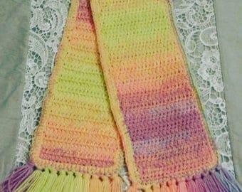 Bright Crochet Scarf