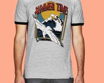 Summer Time-Lightweight Ringer Tee