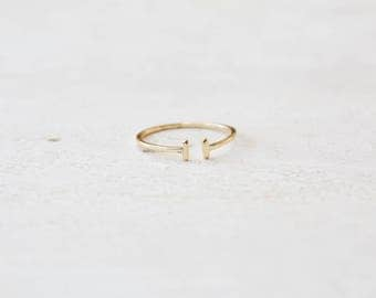Open gold ring - stacking ring - Gold delicate ring - dainty ring - minimalist ring - gold ring - Dainty jewelry - R005