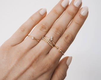 Stacking ring, Gold Ring, Stacking gold rings, dainty ring, minimal ring, minimalist jewellery, R068