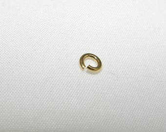 Set of 2 Gold vermeil rings LR1045 hers 1.00 mm, diameter 4.5 mm. (7121663)