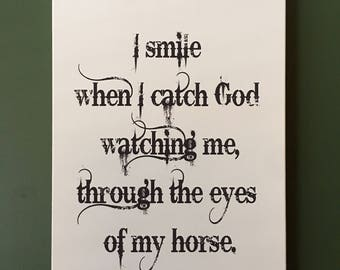 Smile Horse 12X18 Canvas Gallery Print, Wall Art, Inspirational Quotes