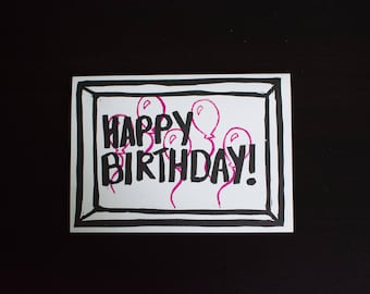 5 ct HAPPY BIRTHDAY greeting cards