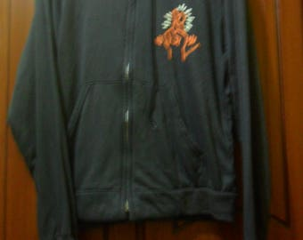 Vintage 80s Keith Haring Hooded Jacket//American Pop Art//Paper thin material//Made in USA//YKK Zip