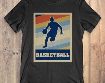 Basketball T-Shirt Gift: Vintage Style Basketball