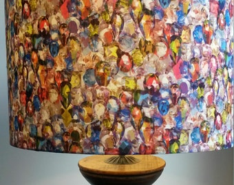 "Handmade lampshade in Liberty ""Alexandra"" fabric. 40cm drum  shade"