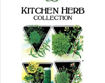"""Heirloom, Organic non-GMO Seed Collection """"Kitchen Herb"""""""