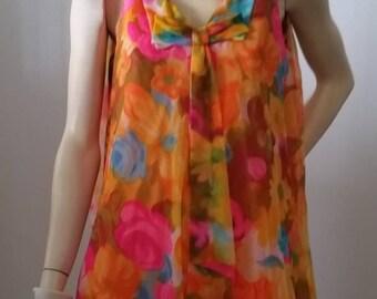 Vintage 60's 70's mini dress