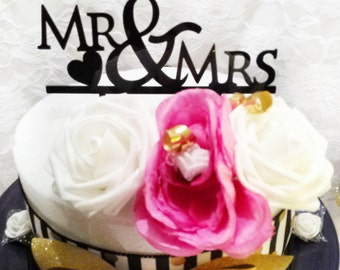 Mr and Mrs Cake Topper, Wedding Cake Topper , Custom Cake Topper, Love Cake Topper