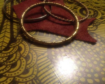 Stack 3: Set of 3 Mixed Metal Bangle Bracelets