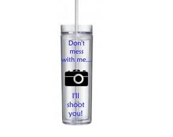 Photographer Skinny Tumbler/Sports Bottle