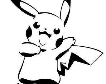 Pikachu Pokemon Vinyl Decal