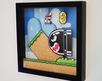 Super Mario World (3D Shadow Box)