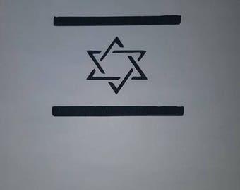 Israel Flag Stencil- דגל ישראל