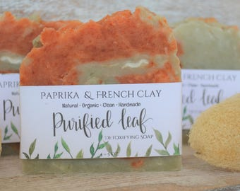 Paprika & French Clay, Detoxifying Soap, Handmade Organic Soap, Homemade soap, Clean Soap, Soap bars, Natural Soap, Essential Oil