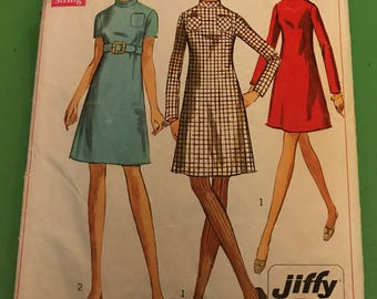 Vintage Sewing Pattern - 1968 Simplicity 7755 Dress with pocket