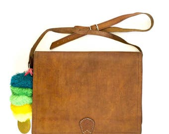 fez leather briefcase