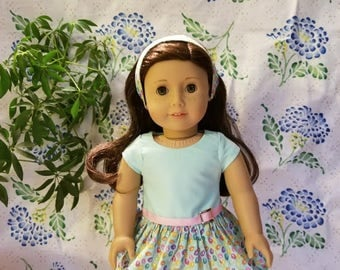"""Easter Dress with Matching Headband for the American Girl Doll and 18"""" Doll"""