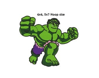 Hulk Embroidery Design - 4x4, 5x7 Instant download - The Green Hulk