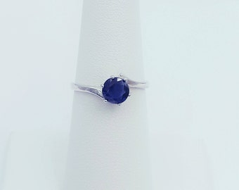 Sterling Silver Lab Sapphire Ring