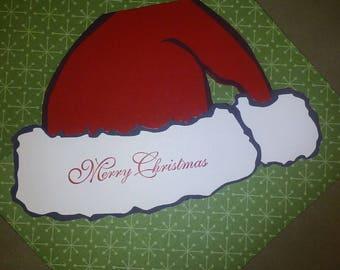 Santa Hat Gift Card Holder with Envelope (envelope paper may differ)