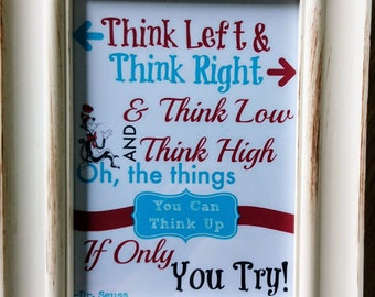 Dr Seuss Quote Framed