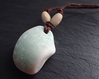 Lake Superior Beach Glass Pendant Necklace