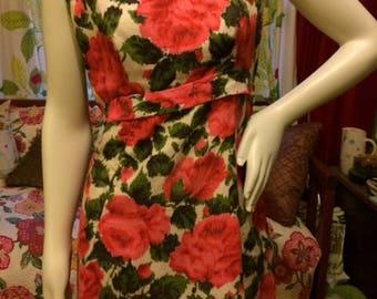 1960's floral mini dress
