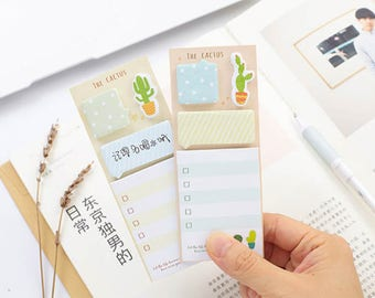 The cactus sticky notes